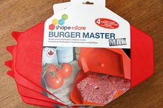 SPECIAL INTRODUCTORY BUNDLE PRICE! SHAPE, STORE AND SAVE! The Burger Master MAX Bundle comes with4 Burger Master MAX freezer containers. Each Burger Master MAX