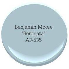 Benjamin Moore Serenata Coastal Paint Color by catherine