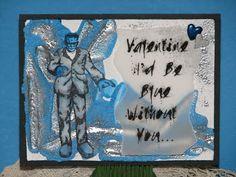 Valentine...I'd be blue... IMAGINE Crafts, JFF Stamps