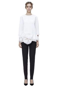 Victoria Beckham   #AW14 RTW   Ruffle Hem Top with Straight Leg Zip Trouser