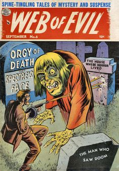 New item in my etsy shopWeb of Evil Issue 6 1953 horror comic cover by PanchromaticaDesigns. Find it here http://ift.tt/2gxBwjl