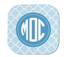Monogram Coasters - Personalized Coasters - Initial Coasters - Set of 4 Coasters - Custom Coasters - Quatrefoil Coasters by CityMonograms on Etsy