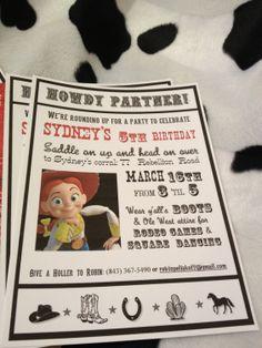 Jessie Toy Story cowgirl cowboy birthday by RobinPoliakoffArt, $15.00