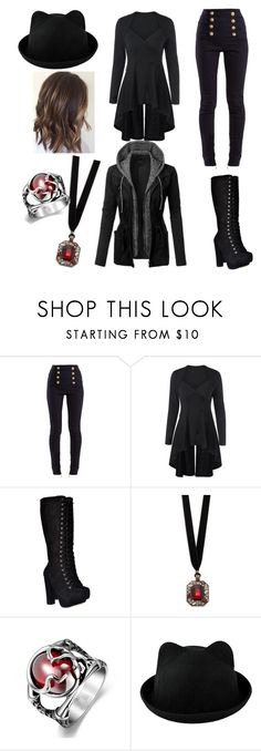 """Untitled #42"" by lucia-valle-sanchez on Polyvore featuring Balmain, Design Lab and LE3NO"