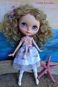 BLYTHE DOLL Dress - OOAK  vintage embroidered bodice over delicate skirts by LittleLovelieShop on Etsy