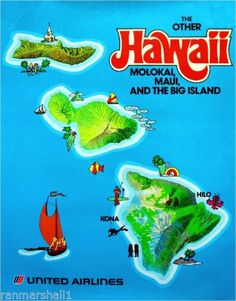 The-Other-Hawaii-Maui-Hawaiian-Island-United-States-Travel-Advertisement-Poster