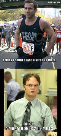 a marathon in 26.2 miles