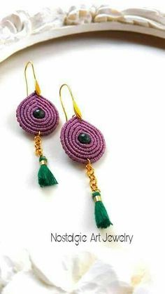 Hey, I found this really awesome Etsy listing at https://www.etsy.com/listing/590202306/macrame-earrings-in-vintage-rose-color