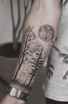 Forest forearm tattoo - 110+ Awesome Forearm Tattoos  <3 <3