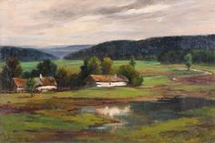 ZDENKA BRAUNEROVÁ (1858-1934, Praha)  Landscape near Tábor, 1880-1889