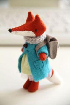 felt fox by caitlin