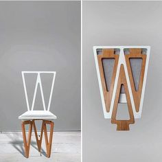 Chair that Folds Into A Bed Design Fancy Triangle solid Wood Folding Chair Folding Furniture, Wood Folding Chair, Space Saving Furniture, Furniture Making, Modern Furniture, Furniture Design, Furniture Ideas, Rustic Furniture, Garden Furniture