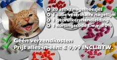 Nagelhoesjes voor katten - 20 stuks + 1 tube veterinaire nagellijm, leverbaar in 5 verschillende maten (XS, S, M, L, XL) en 9 verschillende kleuren (zwart, wit, rood, groen, blauw, paars, rood, oranje, roze en gemixt)