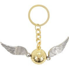 Harry Potter Golden Snitch Key Chain Hot Topic ($6.80) ❤ liked on Polyvore featuring accessories and fob key chain
