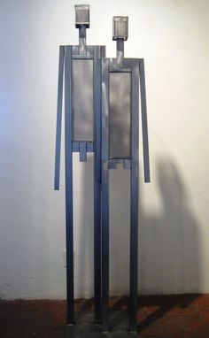 WE - O.I.P. (Optical Interference Pattern); stainless steel; Edition of 99 #markwhite #markwhitefineart #mwfa #fineart #gallery #sculpture #we #people #99% #editionof99 #men #women #children #stainlesssteel #patina #steelgray #patinedstainlesssteel #handmade #santafe #newmexico #canyonroad #artist #sculptor