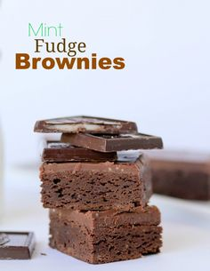 Mint Fudge Brownies  -- one bowl, fudgy mint brownies from scratch.  You'll never use a box again!!