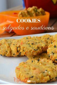 Cookies salgados e saudáveis para o lanche da escola