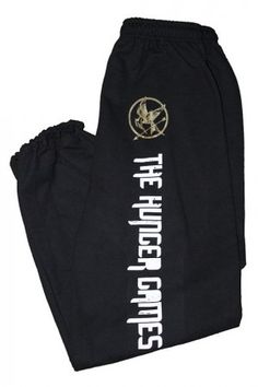 Hunger games sweat pants? I will wear these. While watching The Hunger Games. And every other day of my life.