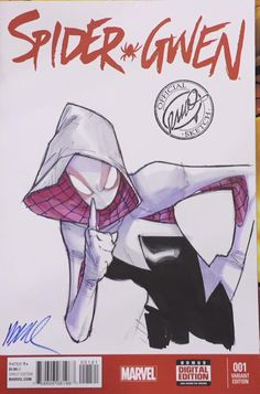 Spider-Gwen Con Sketch by Ramos
