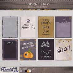 Poisoned Kiss - Journaling Cards :: Journal Cards :: PROJECT 365 | LIFE :: Memory Scraps