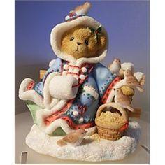 "Cherished Teddies ""Irmgard"" Winter Bear Christmas Figurine"
