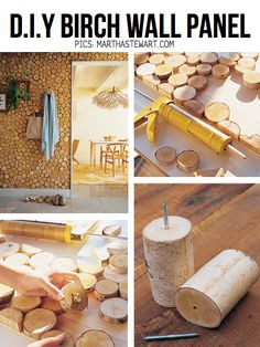 awesome birch wall