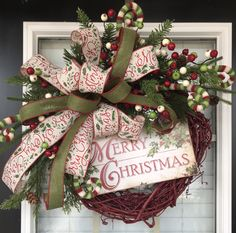 Grapevine Christmas wreath for front door, Merry Christmas Wreath, grapevine wreath