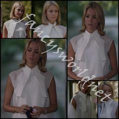 Bade Iscil wearing a white Elif Cigizoglu shirt...