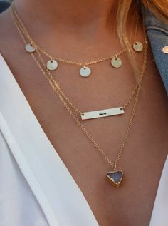 Coin Drop Necklace/ Arrow Necklace/ Triangle by ShopErinMichele