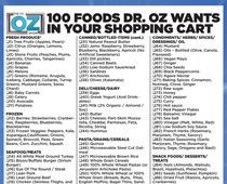 Dr. Oz's top 100 grocery list