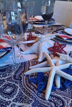 ::: FOCAL POINT :::: PATRIOTIC PLACE SETTINGS: JULY 4th IDEAS