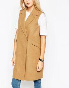 Image 3 ofASOS Sleeveless Coat