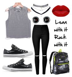"""Ready for Twenty One Pilots"" by lauri-137 on Polyvore featuring Converse, JanSport, Wet Seal and Winky Lux"