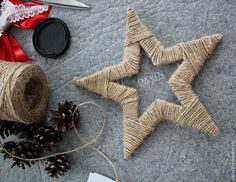 Master Class: New Year's Advent Calendar for ., noel enfant Master Class: New Year's Advent Calendar for . Diy Christmas Ornaments, Homemade Christmas, Rustic Christmas, Holiday Crafts, Vintage Christmas, Christmas Time, Christmas Decorations, Diy Christmas Star, Diy And Crafts