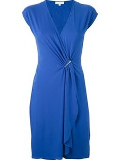 draped front fitted dress