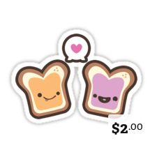 Peanut Butter stickers are the stickiest...
