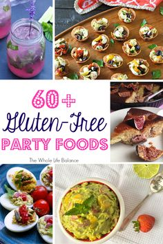 Find party recipes for finger foods, appetizers, dips, sauces, desserts, cocktails, and mocktails! All recipes are gluten-free, Paleo, grain-free, soy-free, and more! | www.thewholelifebalance.com
