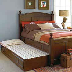 Maxwell Trundle Unit in Rustic Cherry