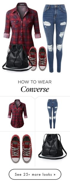 """""""Untitled #77"""" by drry-dccxc on Polyvore featuring Topshop and Converse"""