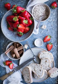 Vegan strawberry toasties with homemade seed butter - The Little Plantation Blog