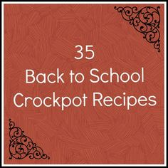 35 Back to School Crockpot recipes! I so need this for our crazy nights! i need a crockpot! Crock Pot Food, Crock Pot Freezer, Crockpot Dishes, Crock Pot Slow Cooker, Freezer Meals, Slow Cooker Recipes, Cooking Recipes, Crockpot Meals, Crock Pots