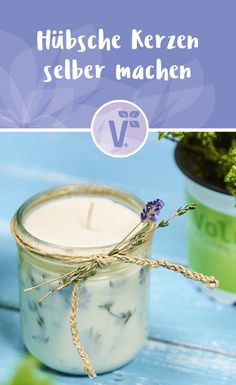 Hübsche Kerzen selber machen - The Effective Pictures We Offer You About diy A quality picture can tell you many things. Diy Candles Scented, Aromatherapy Candles, Soy Candles, Diy Candles With Flowers, Diy Flowers, Bedroom Candles, Bath & Body Works, Small Space Interior Design, Candle Art