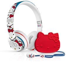 "Hello Kitty Drops the Beats with Headphone Collaboration. Sigh I""m becoming ""that"" Hello Kitty fan of when they slap her on almost anything and I want to slap my money down to buy it! Damm you Hello Kitty! I love you Hello Kitty! Hello Kitty Headphones, Dre Headphones, Sanrio, Wonderful Day, Hello Kitty Items, Hello Kitty Stuff, Ipad, Hello Kitty Collection, Beats By Dre"