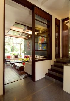 Interior Design by Kumar Moorthy & Associates, Delhi. Browse the largest collection of interior design photos designed by the finest interior designers in India. Indian Home Design, Indian Home Interior, Indian Interiors, Indian Home Decor, Interior Modern, Interior Architecture, Bungalow House Design, Modern House Design, Indian Bedroom Decor