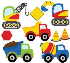 Construction Diggers Bob the Builder Style Childrens Nursery Wall Stickers