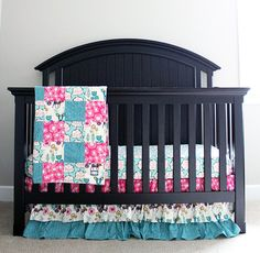 Items similar to Custom Baby bedding - Pink and Teal Deer Bedding, Baby Girl Woodlands Crib Bedding on Etsy Deer Bedding, Woodland Crib Bedding, Custom Baby Bedding, Pink Bedding, Bright Nursery, Babies Stuff, Cribs, Teal, Furniture