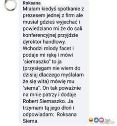 Siemaszko Polish Memes, Some Quotes, Wtf Funny, True Stories, Texts, Haha, Humor, Poland, Random