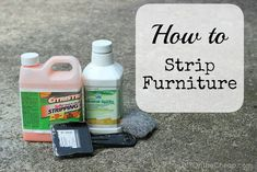 I'm going to be doing a LOT of this in the next few weeks...  How to Strip Furniture (via DIY On the Cheap)
