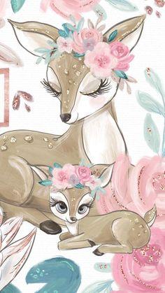 um lindo desenho fofo de cervo.