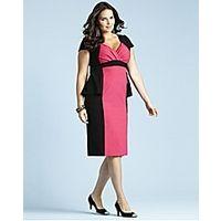 Glamorosa Peplum Dress Very Voluptuous Fit H-K+ - Large Size Clothing and Maternity Wear - www.plussizedglamour.co.uk
